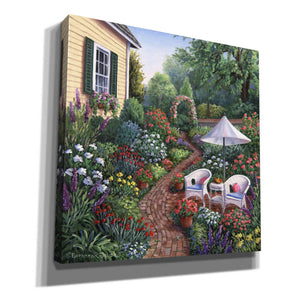 'Relax in the Garden' by Barbara Felisky, Giclee Canvas Wall Art