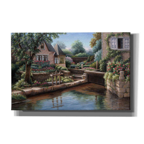 Image of 'Cottage on the Water' by Barbara Felisky, Giclee Canvas Wall Art