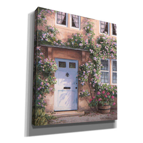 Image of 'White Door with Pink Roses' by Barbara Felisky, Giclee Canvas Wall Art