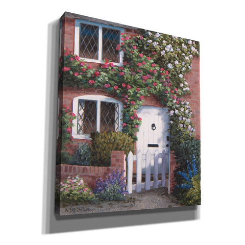 Image of 'Roses with Picket Fence' by Barbara Felisky, Giclee Canvas Wall Art