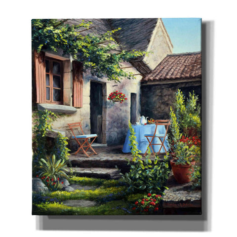 Image of 'Tea on the Terrace' by Barbara Felisky, Giclee Canvas Wall Art