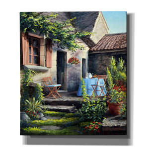 'Tea on the Terrace' by Barbara Felisky, Giclee Canvas Wall Art