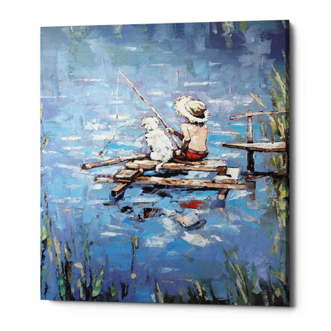 Image of 'Fishermen' by Alexander Gunin, Giclee Canvas Wall Art