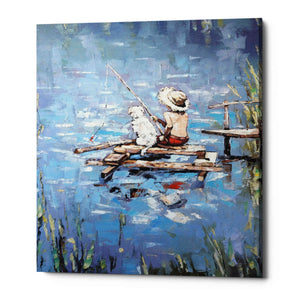 'Fishermen' by Alexander Gunin, Giclee Canvas Wall Art