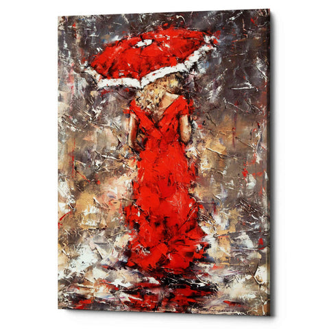 Image of 'Woman With Umbrella' by Alexander Gunin, Giclee Canvas Wall Art