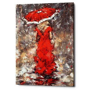 'Woman With Umbrella' by Alexander Gunin, Giclee Canvas Wall Art