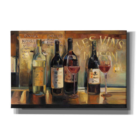 'Les Vins Maison' by Marilyn Hageman, Giclee Canvas Wall Art