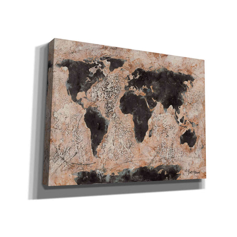 Image of 'Old World Map' by Britt Hallowell, Canvas Wall Art,Size B Landscape