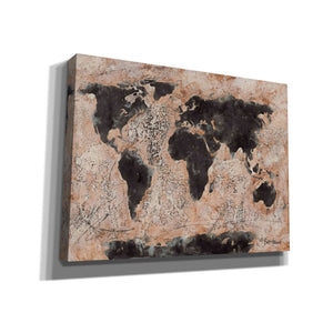'Old World Map' by Britt Hallowell, Canvas Wall Art,Size B Landscape