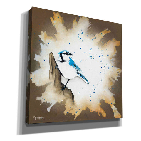 Image of 'Weathered Friends - Blue Jay' by Britt Hallowell, Canvas Wall Art,Size 1 Square