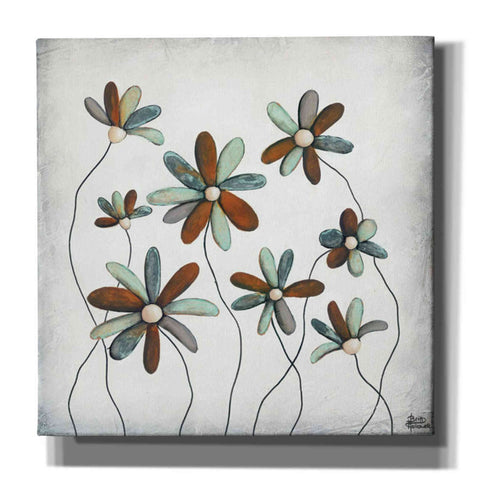'Patina Petals I' by Britt Hallowell, Canvas Wall Art,Size 1 Square
