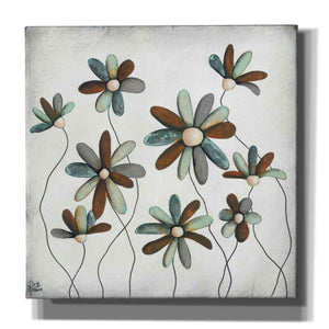 'Patina Petals II' by Britt Hallowell, Canvas Wall Art,Size 1 Square