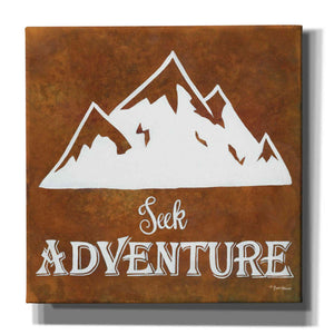 'Seek Adventure' by Britt Hallowell, Canvas Wall Art,Size 1 Square