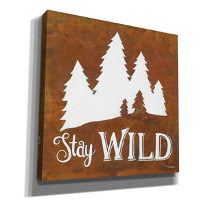 'Stay Wild' by Britt Hallowell, Canvas Wall Art,Size 1 Square