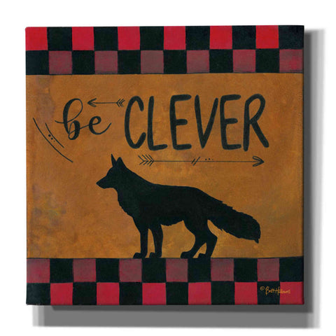'Be Clever' by Britt Hallowell, Canvas Wall Art,Size 1 Square