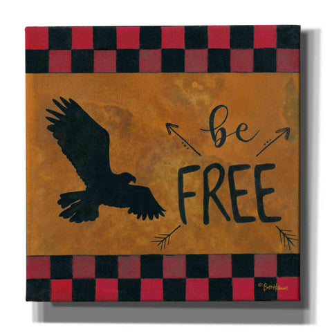 'Be Free' by Britt Hallowell, Canvas Wall Art,Size 1 Square