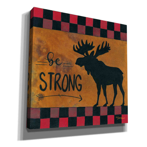 'Be Strong' by Britt Hallowell, Canvas Wall Art,Size 1 Square