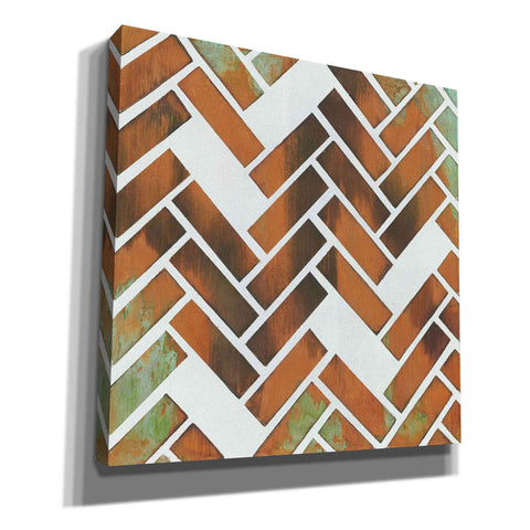 Image of 'Herringbone I' by Britt Hallowell, Canvas Wall Art,Size 1 Square