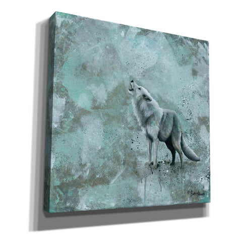 Image of 'Simplicity Wolf' by Britt Hallowell, Canvas Wall Art,Size 1 Square