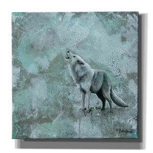 'Simplicity Wolf' by Britt Hallowell, Canvas Wall Art,Size 1 Square