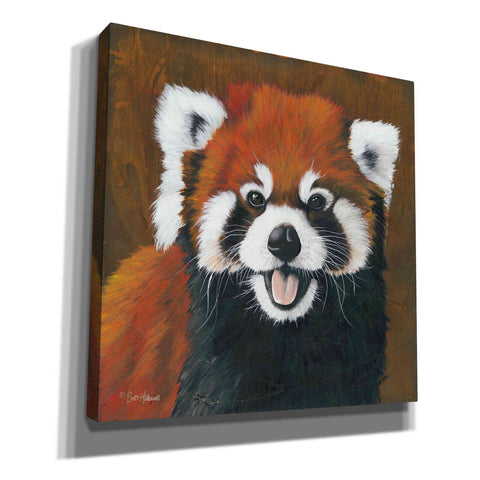 'Red' by Britt Hallowell, Canvas Wall Art,Size 1 Square