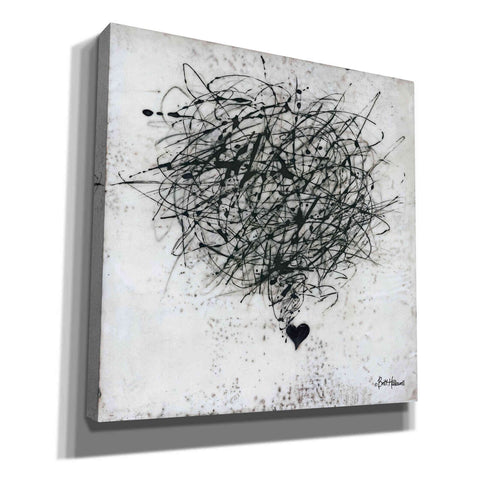 'Crazy Love' by Britt Hallowell, Canvas Wall Art,Size 1 Square