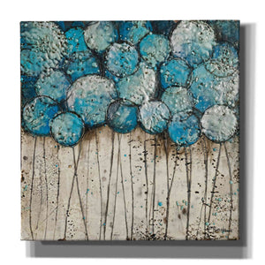 'Bubble Trees in Blue' by Britt Hallowell, Canvas Wall Art,Size 1 Square