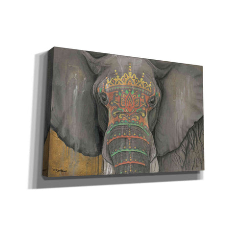 Image of 'Tattooed Elephant' by Britt Hallowell, Canvas Wall Art,Size B Landscape