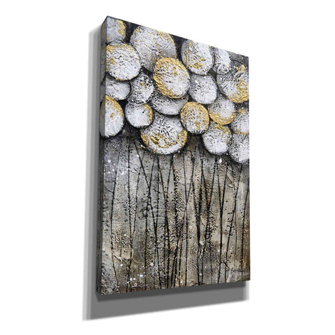 Image of 'Bubble Trees in White' by Britt Hallowell, Canvas Wall Art,Size A Portrait