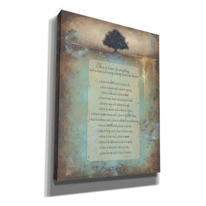'Time for Everything' by Britt Hallowell, Canvas Wall Art,Size B Portrait
