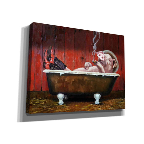 Image of 'Hog Heaven' by Lucia Heffernan, Canvas Wall Art,Size B Landscape