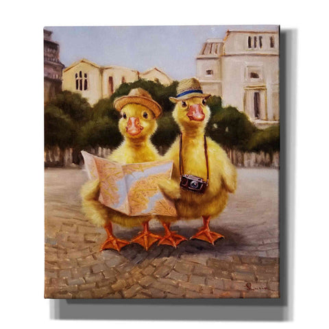 'Tourists' by Lucia Heffernan, Canvas Wall Art,Size C Portrait