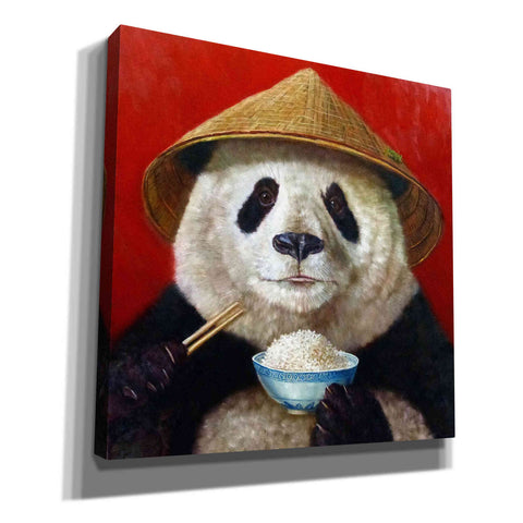 'Panda' by Lucia Heffernan, Canvas Wall Art,Size 1 Square