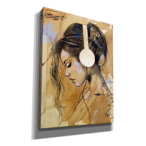 Image of 'Listen Listen' by Loui Jover, Giclee Canvas Wall Art