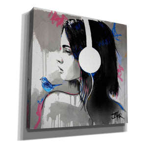 'Life is Music' by Loui Jover, Canvas Wall Art,Size 1 Square