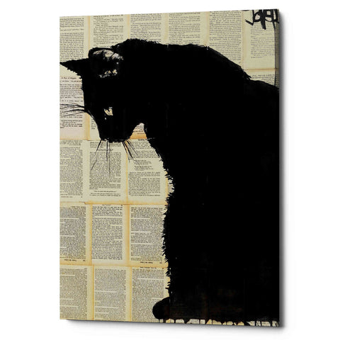 """Cat Black"" by Loui Jover, Giclee Canvas Wall Art"