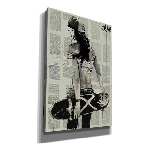 Image of 'Sk8Ter Gurl' by Loui Jover, Giclee Canvas Wall Art