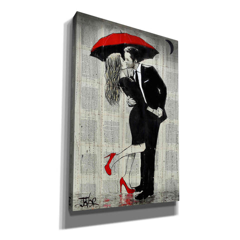 Image of 'The Kissing Rain' by Loui Jover, Giclee Canvas Wall Art