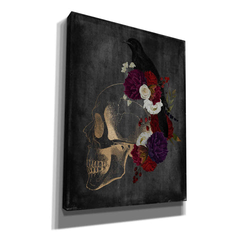 'Skull Raven' by Kyra Brown, Canvas Wall Art,Size C Portrait