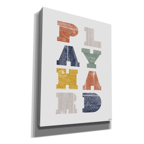 'Play Hard' by Kyra Brown, Canvas Wall Art,Size C Portrait