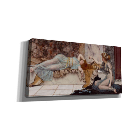'Mischief and Repose' by John William Godward Canvas Wall Art