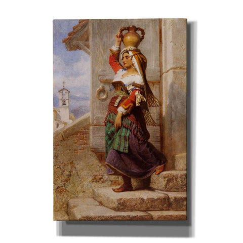 'A Roman Water Carrier' by Carl Haag, Canvas Wall Art,12 x 18