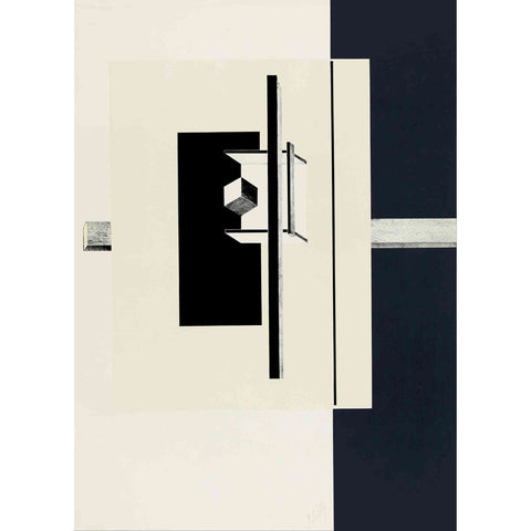 '1o Kestnermappe Proun' by El Lissitzky Canvas Wall Art