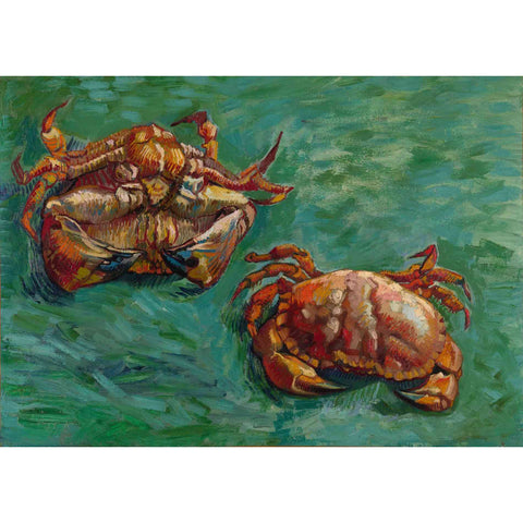 'Two Crabs' by Vincent Van Gogh Canvas Wall Art