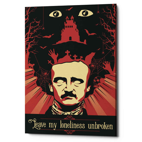 'Poe' Giclee Canvas Wall Art