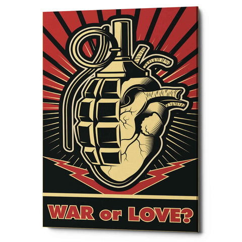 'War or Love' Giclee Canvas Wall Art