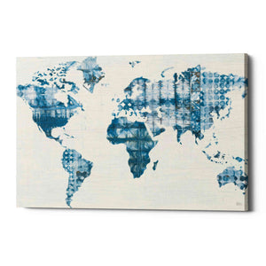 'Kanari Map Indigo' by Melissa Averinos, Giclee Canvas Wall Art