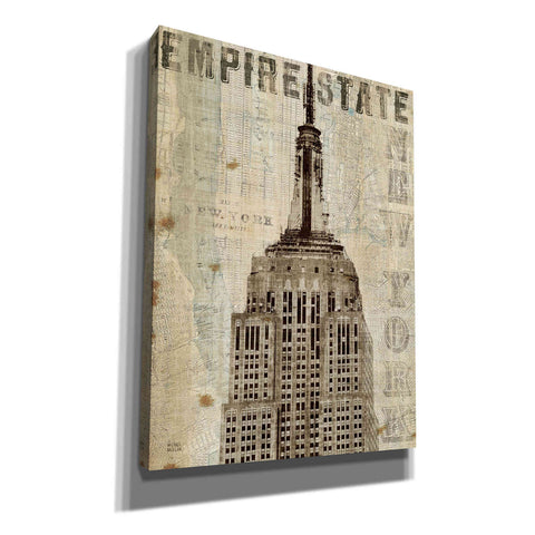 'Vintage NY Empire State Building' by Michael Mullan, Canvas Wall Art