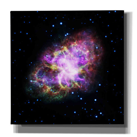 'Crab Nebula Multi-Wavelengths' Hubble Space Telescope Giclee Canvas Wall Art