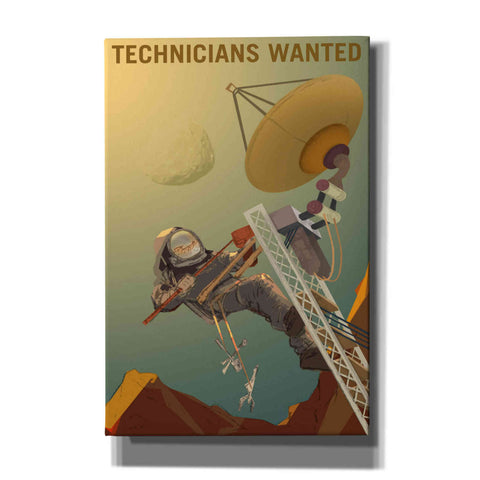 """Mars Explorer Series: Technicians Wanted"" Giclee Canvas Wall Art"